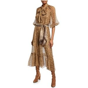 Zimmermann animal print silk dress